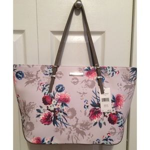 NWT Nine West It Girl ZIP Top Floral Tote